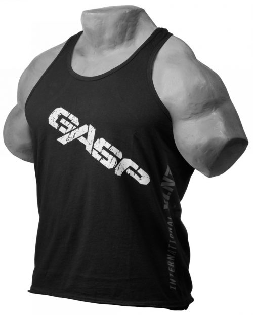 GASP Vintage T-Back Tank - Black Large