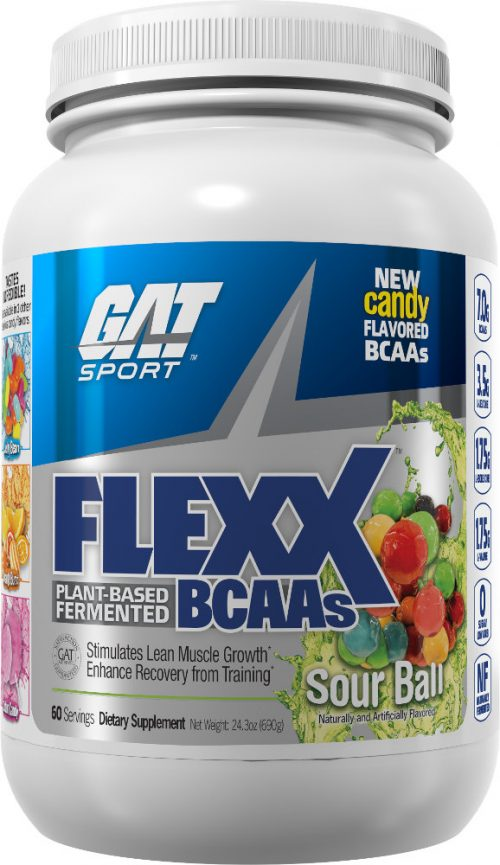 GAT Sport Flexx BCAAs - 60 Servings Sour Ball