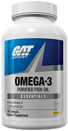 GAT Sport Omega-3 Purified Fish Oil - 90 Lemon Softgels