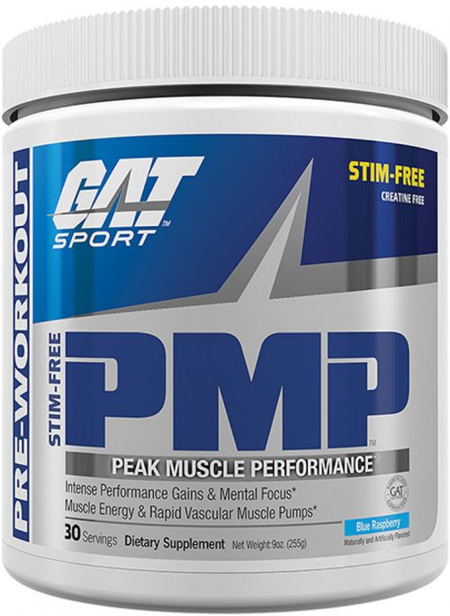 GAT Sport PMP - 30 Servings Stim Free Blue Raspberry