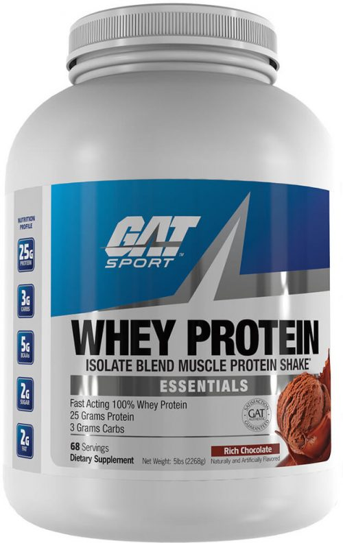 GAT Sport Whey Protein - 5lbs Chocolate