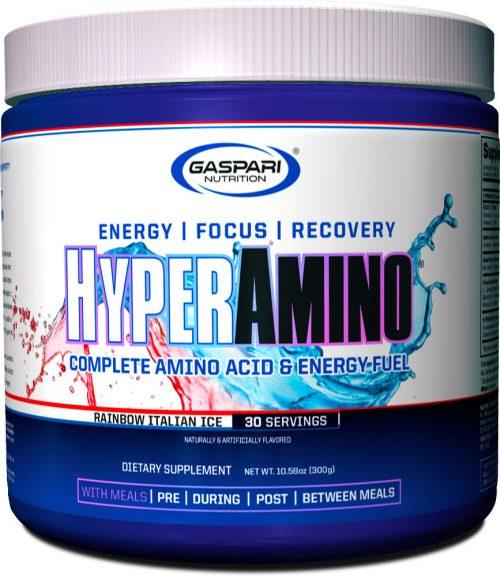 Gaspari Nutrition Hyper Amino - 30 Servings Rainbow Italian Ice