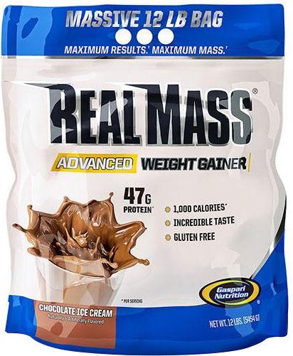 Gaspari Nutrition RealMass Advanced Weight Gainer - 12lbs Chocolate Ic