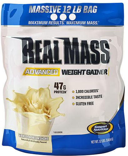 Gaspari Nutrition RealMass Advanced Weight Gainer - 12lbs Vanilla Milk