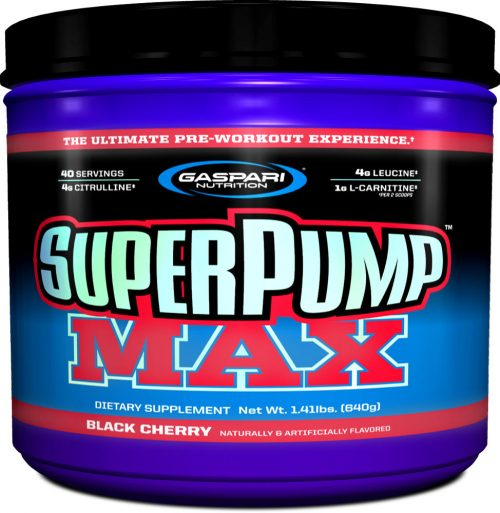 Gaspari Nutrition SuperPump MAX - 40 Servings Black Cherry