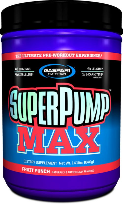 Gaspari Nutrition SuperPump MAX - 40 Servings Fruit Punch