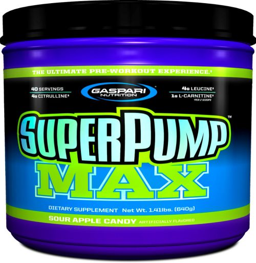 Gaspari Nutrition SuperPump MAX - 40 Servings Sour Apple Candy