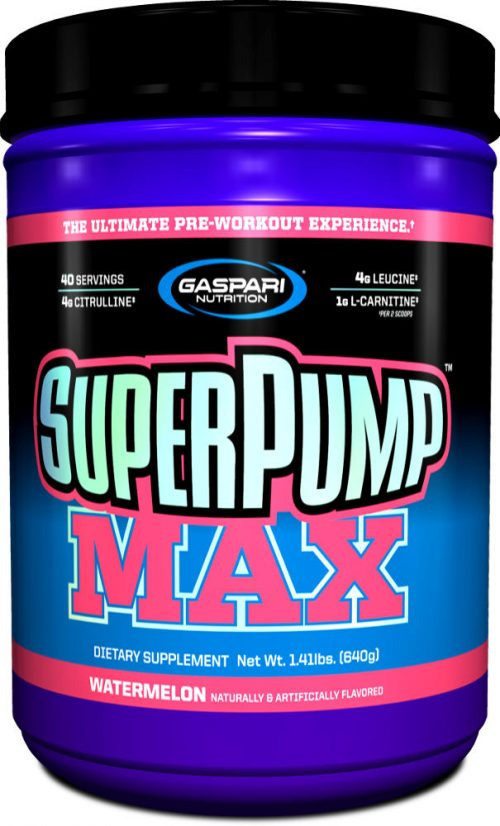 Gaspari Nutrition SuperPump MAX - 40 Servings Watermelon