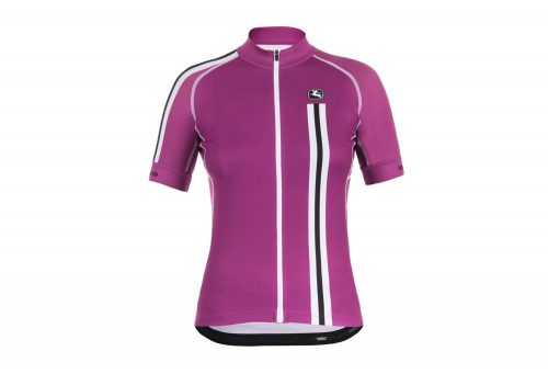 Giordana Trade Mia Scatto Short Sleeve Jersey - Women's - plum/white, medium