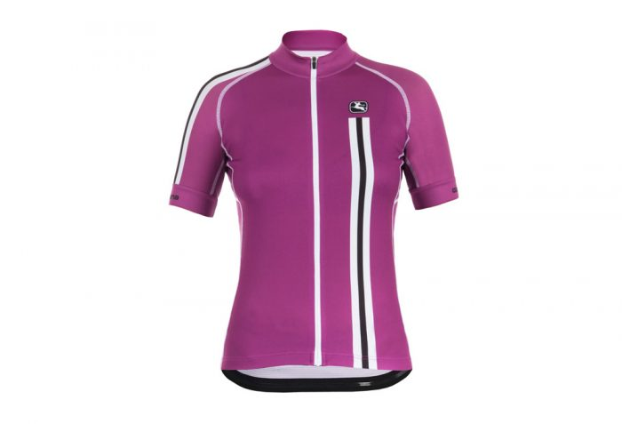 Giordana Trade Mia Scatto Short Sleeve Jersey - Women's - plum/white, small