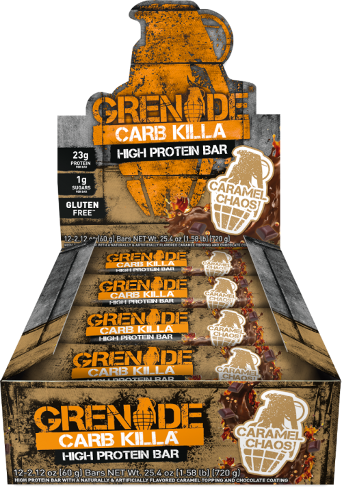 Grenade Carb Killa Bars - Box of 12 Caramel Chaos