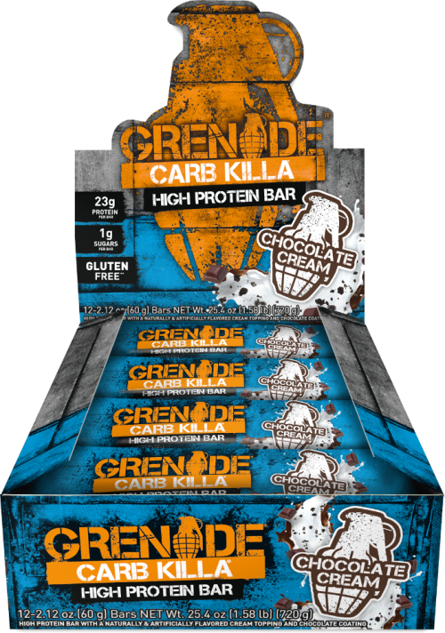 Grenade Carb Killa Bars - Box of 12 Chocolate Cream