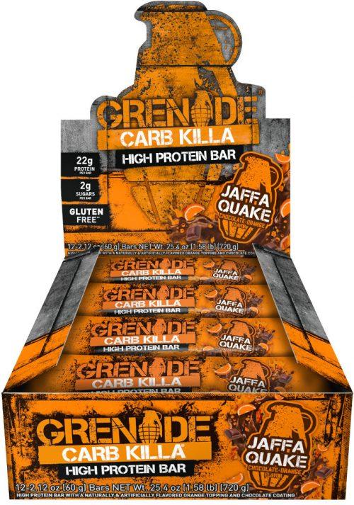 Grenade Carb Killa Bars - Box of 12 Jaffa Quake