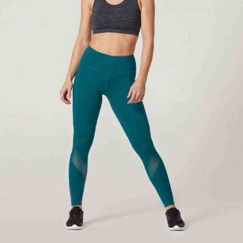 Heartbeat Full-Length Leggings - Green/Blue, XS