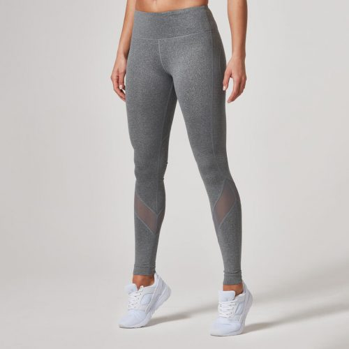 Heartbeat Full-Length Leggings - Grey, L