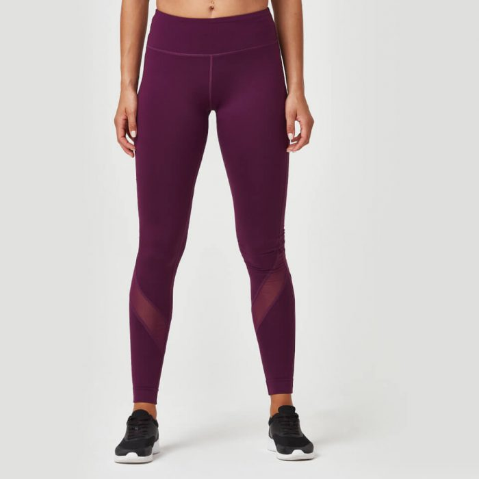 Heartbeat Full Length Leggings - Plum - S