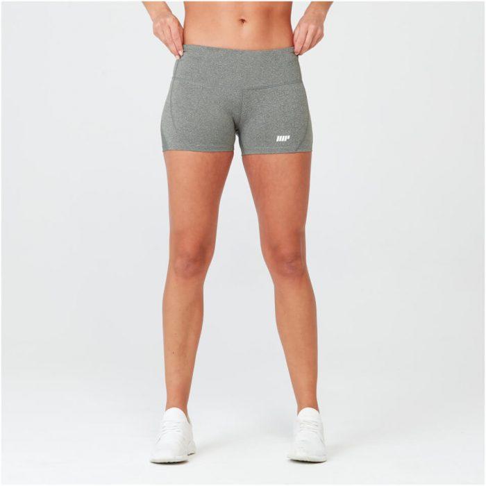 Heartbeat Training Shorts - Grey Marl - S