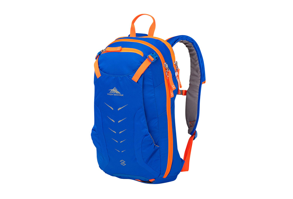 High Sierra Symmetry 18 Backcountry Pack - vivid blue/electric orange, one size