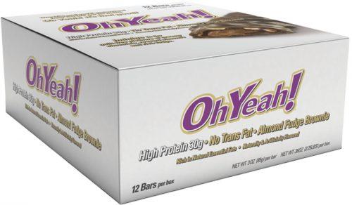ISS Oh Yeah! Bars - Box of 12 Almond Fudge Brownie