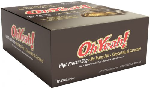 ISS Oh Yeah! Bars - Box of 12 Chocolate & Caramel