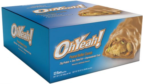 ISS Oh Yeah! Bars - Box of 12 Peanut Butter Crunch