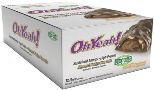 ISS Oh Yeah! Bars - Good Grab 45g - Box of 12 Almond Fudge Brownie