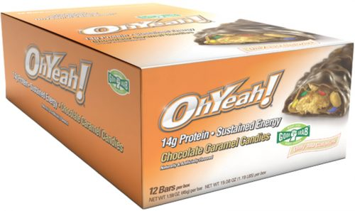 ISS Oh Yeah! Bars - Good Grab 45g - Box of 12 Chocolate Caramel Candie