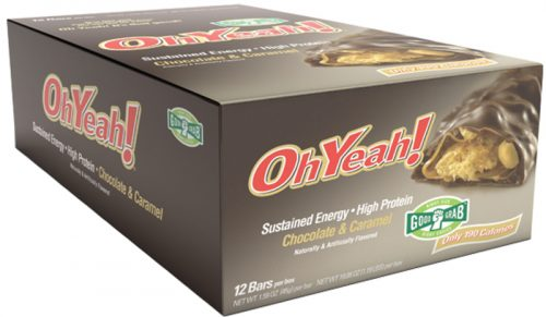ISS Oh Yeah! Bars - Good Grab 45g - Box of 12 Chocolate & Caramel