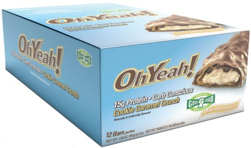 ISS Oh Yeah! Bars - Good Grab 45g - Box of 12 Cookie Caramel Crunch