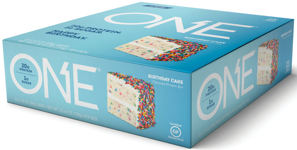 ISS Oh Yeah! ONE Bar - Box of 12 Birthday Cake