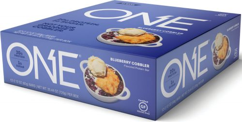 ISS Oh Yeah! ONE Bar - Box of 12 Blueberry Cobbler