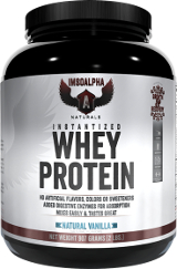 ImSoAlpha Instantized Whey Protein - 2lbs Natural Vanilla