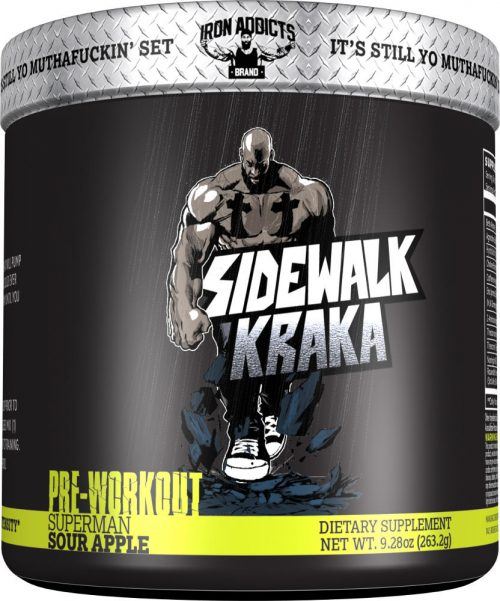 Iron Addicts Sidewalk Kraka - 30 Servings Superman Sour Apple
