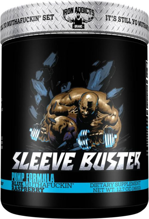 Iron Addicts Sleeve Buster - 30 Servings Blue Muthaf*ckin Raspberry