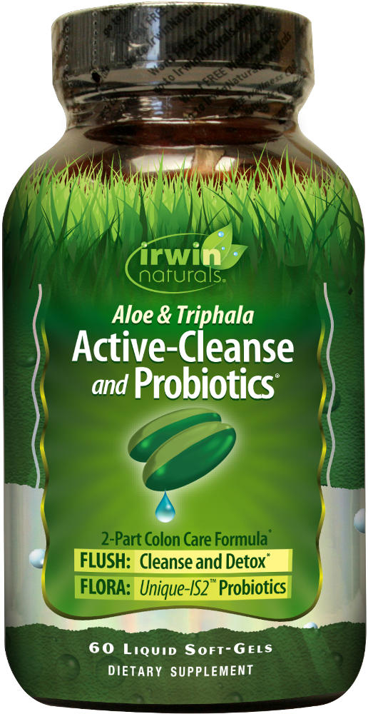 Irwin Naturals Active-Cleanse and Probiotics - 60 Softgels