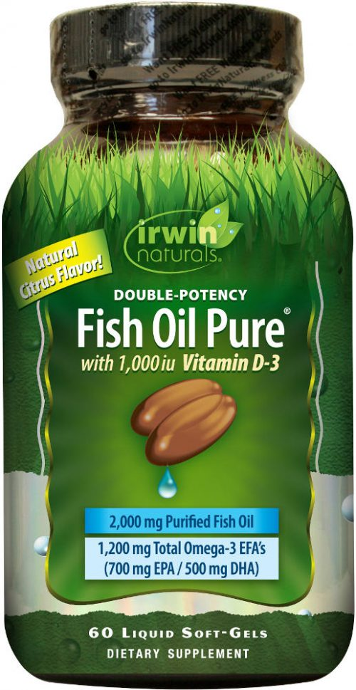 Irwin Naturals Fish Oil Pure - 60 Softgels