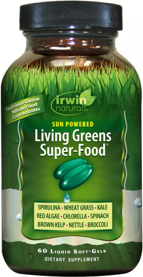 Irwin Naturals Living Greens Super-Food - 60 Softgels