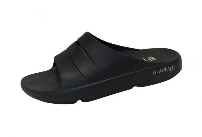 Island Surf Company Crest Slides - Men's - black, 12