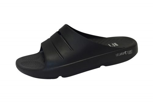 Island Surf Company Crest Slides - Men's - black, 9