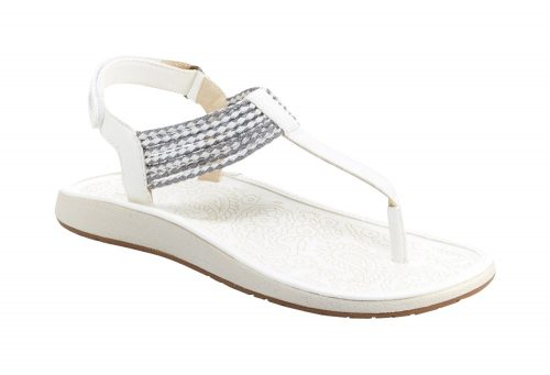 JBU Yasmin Sandals - Women's - white/silver, 8.5