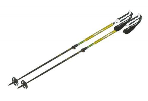 Komperdell Elevation Carbon Poles - black/yellow, adjustable