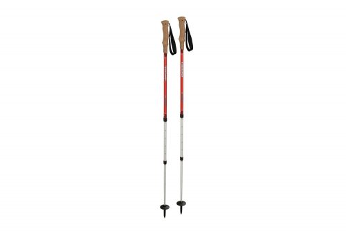 Komperdell Highlander Cork AS Trekking Poles - red, adjustable