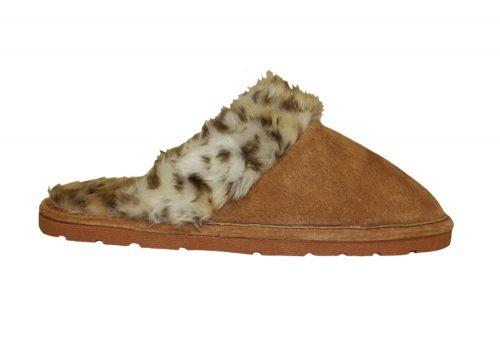 LAMO Sheepskin Scuff - Womens - leopard, medium
