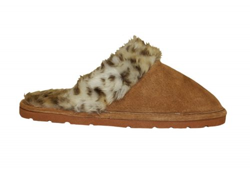 LAMO Sheepskin Scuff - Womens - leopard, small