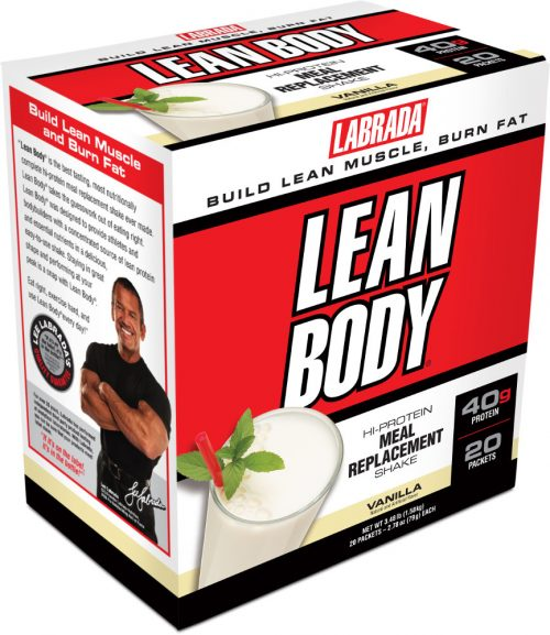 Labrada Nutrition Lean Body Meal Replacement - 20 Packets Vanilla