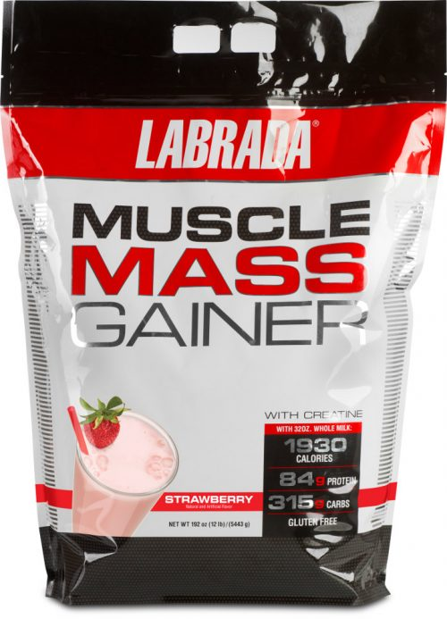 Labrada Nutrition Muscle Mass Gainer - 12lbs Strawberry