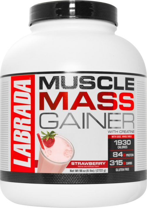 Labrada Nutrition Muscle Mass Gainer - 6lbs Strawberry
