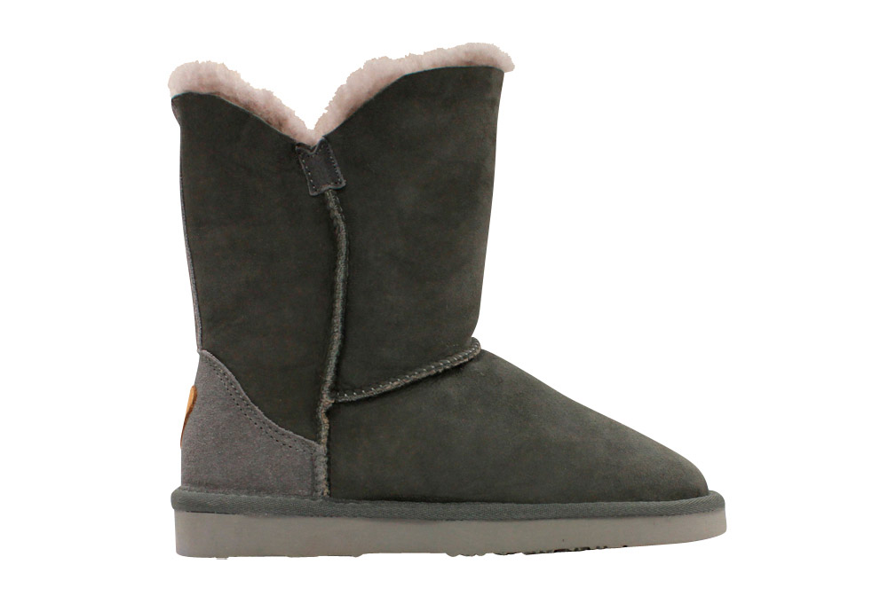 Lamo Liberty Sheepskin Boots - Women's - charcoal, 6