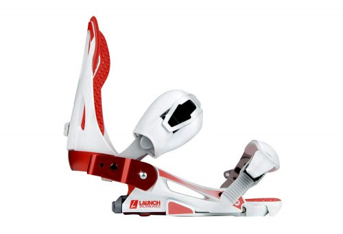 Launch Snowboards TM Binding - white/red, large