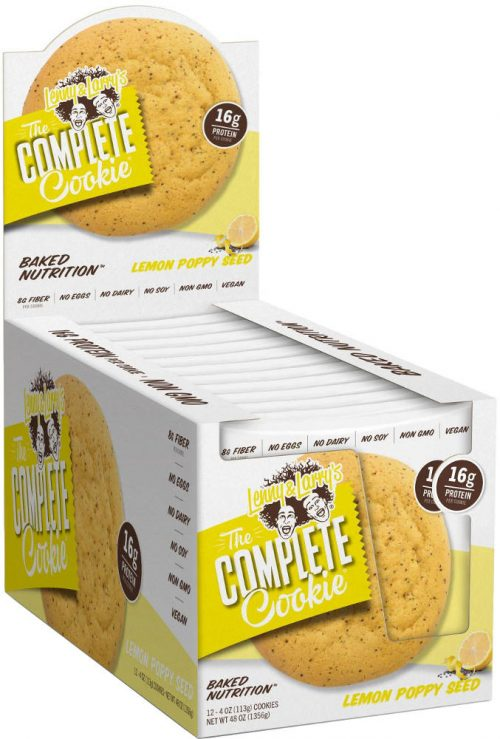Lenny & Larry's Complete Cookie - 12 4oz Cookies Lemon Poppy